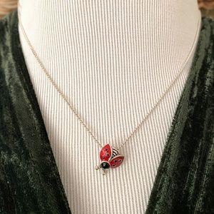 🎉5/20 SALE🎉 VTG silver chain w/ enamel ladybug